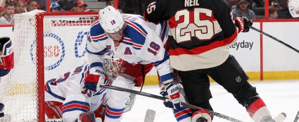 Senators Fall Flat vs. Rangers- Highlights